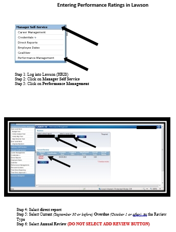 performance rating input instructions - Lawson Hris System