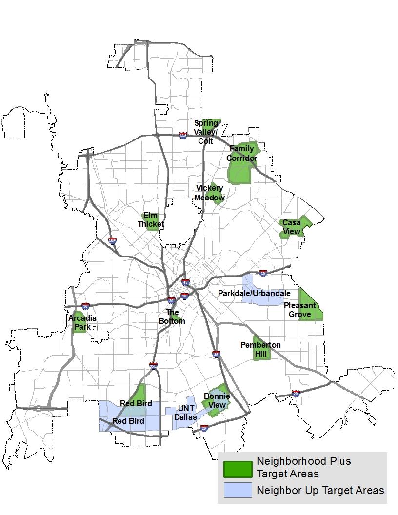 neighborhoodplus Dallas Neighborhood Map on