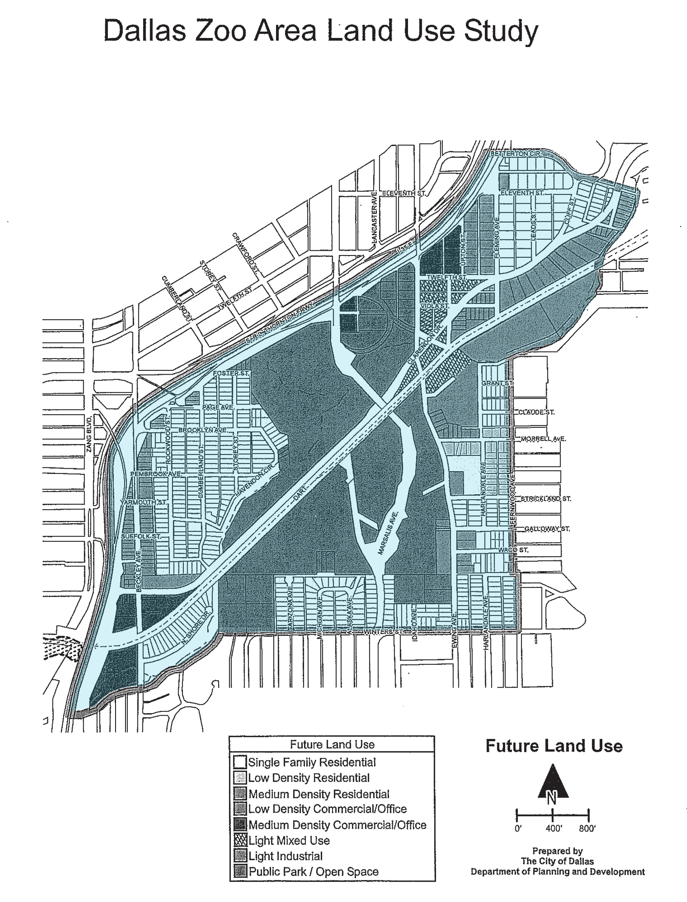 Dallas Zoo Area Land Use Study Landing Page on