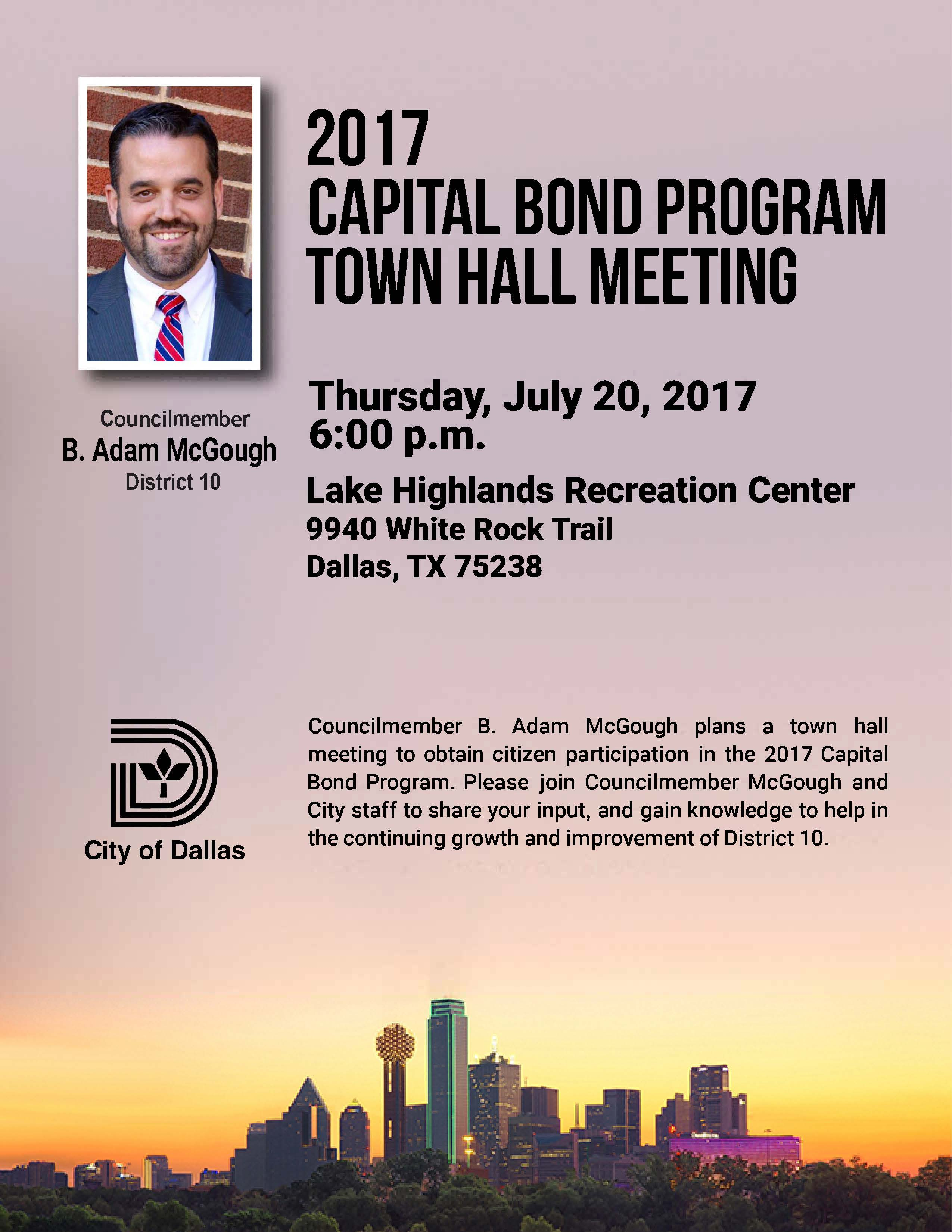 Capital Bond Meeting District 07202017