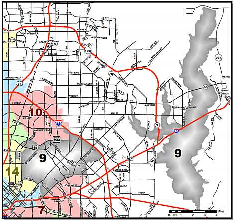 map Dallas City Council District Map on