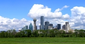 Downtown view from the Trinity River - photo from cover of the 2006-07 annual adopted budget book