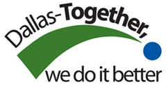 Dallas-Together, we do it better (City of Dallas Employee Customer Service Initiative Program slogan)